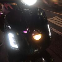 台南VOS偉士車坊-Vespa GTS GTV LED導光燻黑方向燈總成 前後方向燈 非人為一年保固