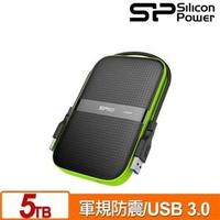 廣穎 Silicon Power Armor A60 5TB(黑綠) 2.5吋軍規防震行動硬碟 [富廉網]