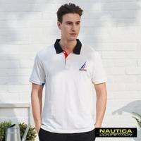 【NAUTICA】COMPETITION經典素色POLO衫(白色)