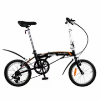 Folding Bicycle Dahon Bike BAT630 GEMINI UNO GLO High Carbon Steel Frame with Fender 16 Inch 3 Speed City Commuting Portable