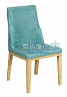 ╭☆雪之屋居家生活館☆╯118A藍色餐椅BB388-15#5243B