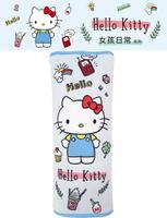 權世界@汽車用品 Hello Kitty 女孩日常系列 安全帶保護套舒眠枕 1入 PKTD010B-02