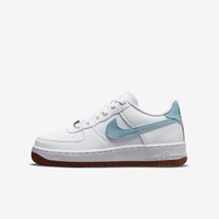 Nike Air Force 1 Lv8 (gs) -07 [DA3093-100] 大童鞋 運動 休閒 花卉 白 水藍