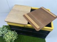 八刀草 Costco 兩片式 好市多折疊箱收納箱蓋板/桌板 露營/野餐 柳安夾板 兩片式 透明漆 (Forest outdoor可用)