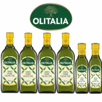 【Olitalia 奧利塔】純橄欖油1000mlx4瓶(+純橄欖油250mlx2瓶-禮盒組)
