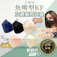 艾爾絲 魚型口罩 台灣製造 雙鋼印 KF 醫療口罩 魚嘴口罩 兒童口罩 KF94 立體口罩 醫用口罩