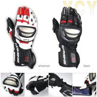 日本komine GK-212 鈦合金競賽型皮長手套 可觸控 防風 防滑 防摔手套