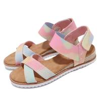 【SKECHERS】涼鞋 Desert Kiss BOBS公益捐贈 女鞋 Sunset Festival 避震 緩衝 彩色(113549MLT)