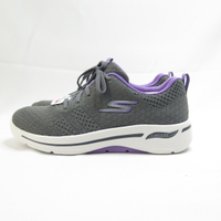 Skechers GO WALK ARCH FIT 女款 健走鞋 124403GYLV 灰x紫【iSport愛運動】
