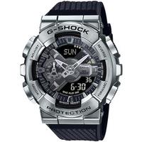 【CASIO 卡西歐】G-SHOCK 重工業風金屬雙顯手錶(GM-110-1A)