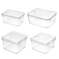 透明手提收納盒 抽屜式 收納箱 收納籃 收納筐 置物箱 儲物盒 雙側洞 疊加 壓克力【RI2701】《Jami》