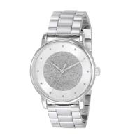 【COACH】氣質銀白馬車logo不鏽鋼錶帶時尚腕錶(14503493)