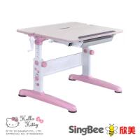 【SingBee 欣美】Hello Kitty-手搖雙板桌(兒童書桌椅/可升降桌椅/兒童桌椅/台灣製書桌)