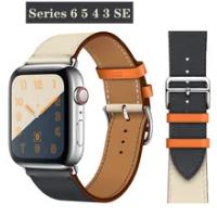 สายหนังสำหรับAppleนาฬิกา44มม.40มม.IWatch 38Mm 42Mm Single Tourสร้อยข้อมือสำหรับapplewatch Series 5 4 3 6 Se