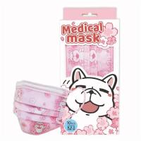 【DOCK豆卡】櫻花款成人防護口罩10入/盒(拋棄式三層口罩)