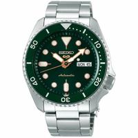 刷卡滿3千回饋5%點數|Seiko 精工5號 Sports 系列 4R36-07G0G(SRPD63K1) 運動時尚潮流機械腕錶/綠x銀 42.5mm