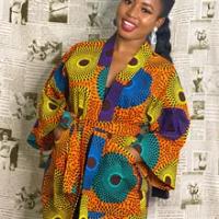 Afrika Cetak Gaun untuk Wanita Dashiki Geometris Belt Femme Dress Pakaian Afrika Plus Ukuran Retro Afrika Natal Jubah