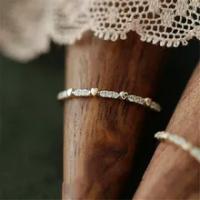 น่ารัก Boho หญิงขนาดเล็กหินแหวนสัญญาทองสีหัวใจหมั้นแหวนแหวนแฟชั่นผู้หญิง