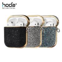 【HODA】Apple AirPods 1/2 電鍍鑽布保護殼-奢華系列