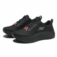【滿千折百優惠開跑】SKECHERS 慢跑鞋 MAX CUSHIONING ARCH FIT 全黑 固特異底 休閒 女(布魯克林) 128308BKGY