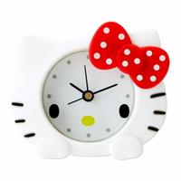 Hello Kitty立體造型矽膠迷你鐘/鬧鐘/指針鬧鐘