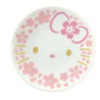 【小禮堂】Hello Kitty 日製 迷你陶瓷圓盤 醬料盤 小菜盤 小碟 YAMAKA陶瓷 《粉金 櫻花臉》