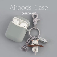 airpods 保護套 pro 貓咪 貓  鑰匙圈 咪咪 鬥牛犬 狗狗 科基 柴犬 貴賓狗 法鬥