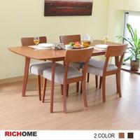 餐桌/餐椅/實木餐椅 安得烈可延伸實木餐桌椅組(一桌四椅)(3色)  【TA315+CH1019】RICHOME