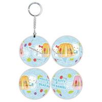 百耘圖 234 Hello Kitty&Dear Daniel 香甜果凍立體球型拼圖鑰匙圈24片