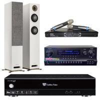 【金嗓】點歌伴唱機 4TB硬碟+擴大機+無線麥克風+喇叭(CPX-900 A5+DW1+MR-865 PRO+JAMO S807)