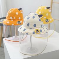 兒童防疫帽 兒童防護帽防飛沫寶寶帽子兒童隔離遮臉防疫面罩新生兒童童漁夫帽『xxs21402』【防疫必備】