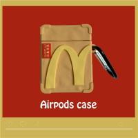 麥當勞紙袋造型airpods1/2代通用 矽膠保護套 台灣現貨