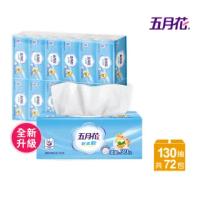 【MAY FLOWER 五月花】新柔韌抽取式衛生紙(130抽x12包x6袋)