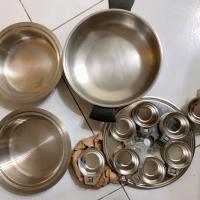 Am way 安麗何蘭蒸鍋組(培碟、層架、12小鋼)碗