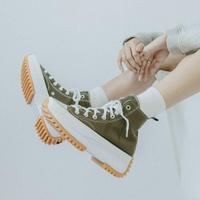 【滿額↘現折$200】【CONVERSE】CONVERSE RUN STAR HIKE 男鞋 女鞋 休閒鞋 帆布鞋 厚底鞋 高筒 軍綠 增高 熱門款 171667C【勝利屋】