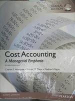 【書寶二手書T8/大學商學_EB3】Cost Accounting-A Managerial Emphasis_Char