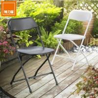 【特力屋】耐衝擊戶外折疊椅 黑色 好堆疊 好收納