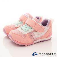 日本月星Moonstar機能童鞋-HI系列2E穩定款2121S64櫻花粉(中小童段)