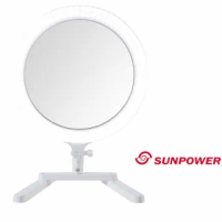 【SUNPOWER】SUNPOWER MP-3 多功能環形 LED 補光燈(公司貨 化妝燈 美妝燈 網美燈 直播)