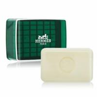 【Hermes 愛馬仕】DOrange Verte 橘綠之泉香皂(50g-國際航空版-附皂盒)