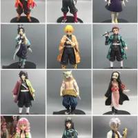 อะนิเมะ16-18ซม.Demon Slayer Kimetsu ไม่มี Yaiba รูป Kamado Tanjirou Action Figure Agatsuma Zenitsu Nezuko นักรบ Pvc ชุดของเล่น