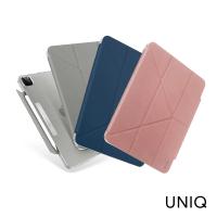【UNIQ】iPad Pro 11 3代2021 Camden抗菌磁吸設計帶支架多功能極簡透明保護套