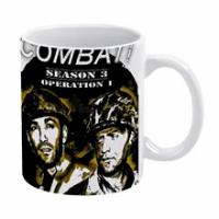 Combat! White Mug Custom Printed Funny Tea Cup Gift Personalised Coffee Mug Tv Movies Drama War Ww2 Vic Morrow Combat