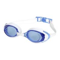 【SPEEDO】成人運動泳鏡-抗UV 防霧 蛙鏡 游泳 戲水 日製 白藍(SD812272D665)
