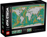 【LETGO】全新現貨 LEGO 樂高正版 31203 ART 藝術生活系列 世界地圖 馬賽克拼圖 MAP