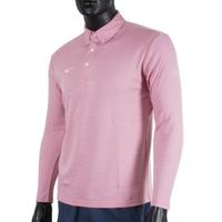Mizuno [32TA154266] 男 長袖 上衣 POLO衫 抗紫外線 吸濕 排汗 運動 休閒 粉紅