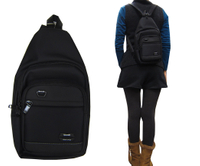 ~雪黛屋~SPYWALK 胸前後背包小容量主袋+外袋共四層單左背單右背雙後背防水尼龍布材質全齡青少均適用SD9387