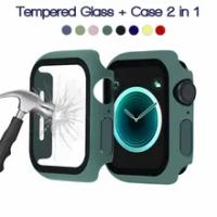 สำหรับ Apple Watch กรณี44มม.40มม.42มม.38มม.กันชน + ป้องกันหน้าจอสำหรับ IWatch Series 5 4 3 6 Se Apple Watch แก้ว + อุปกรณ์เสริม