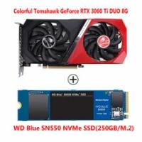 Colorful Tomahawk GeForce RTX 3060 Ti DUO 8G LHR 1665MHz GDDR6 E-sports Game Light Chasing Desktop Computer Graphics RTX3060Ti