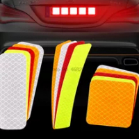 by DHL or Fedex 2000pcs Car Door Reflective Sticker Warning Tape Diamond Reflective Tape Safety Warning Mark Bicycle Stickers
